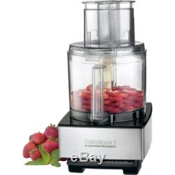 Brushed Stainless Steel Kitchen 14 Cup Food Processor W Spatula & Recipe