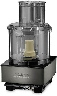 CUISINART 14-Cup Food Processor BPA Free with Detachable Disc Stem Black/Stainless