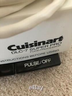 CUISINART DLC-7 SUPER PRO 14 Cup Food Processor Made In Japan w Work Bowl