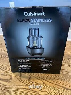 Cuisinart 14-Cup Custom Food Processor, Black Stainless NEW