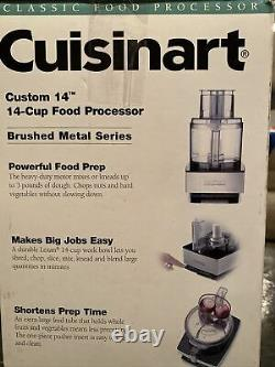 Cuisinart 14-Cup Food Processor Brushed Stainless DFP-14BCN With Extra Blade