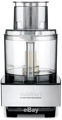 Cuisinart 14-Cup Stainless Steel Locking Lid Food Processor Pulse Control 720W