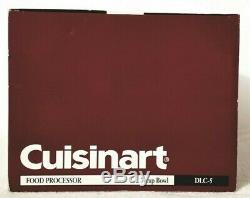 Cuisinart 7 Cup Bowl Food Processor DLC-5 White Brand new