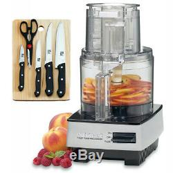 Cuisinart 7 Cup Food Processor DFP-7BC + 5-Piece Knife Set with Cutting Board
