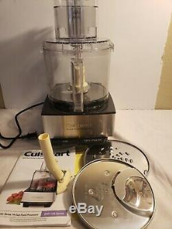 Cuisinart Brushed Stainless and Black Series Custom 14 Cup Food Processor New