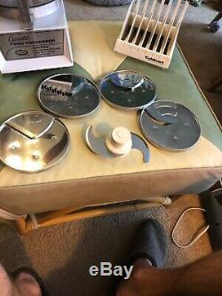 Cuisinart CFP-5A CFP5A Food Processor w 5 Discs, Holder No pusher Works Great