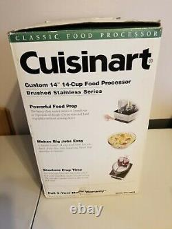 Cuisinart Custom 14-Cup Food Processor Brushed Stainless Base WITH BOX
