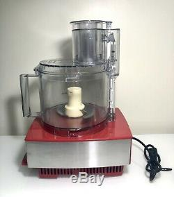 Cuisinart Custom 14 Cup Food Processor, Brushed Stainless Steel / Red DFP-14BCN