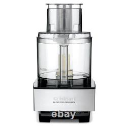 Cuisinart Custom Brushed Glass Storage Ensur 14Cup Speed Food Processor Control