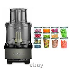 Cuisinart DFP14BKSY Custom 14 Cup Food Processor Black Stainless with Containers