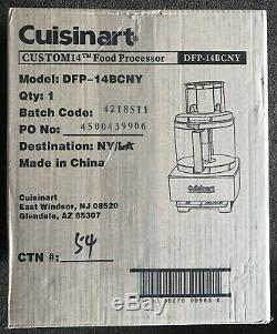 Cuisinart DFP-14BCNY 14-Cup 720W Food Processor Brushed Stainless Steel