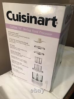 Cuisinart DFP-14BCWNY 14-Cup Food Processor, Brushed Stainless Steel, White NEW
