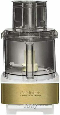 Cuisinart DFP-14WGY 14-Cup Food Processor, White/Gold