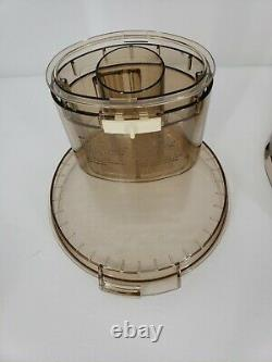 Cuisinart DLC-7E Bowl With Assembly Sleeve, Lid, Plunger Replacement Part. AMBER