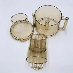 Cuisinart DLC-7E Bowl With Assembly Sleeve, Lid, Replacement Part. AMBER