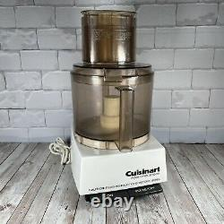 Cuisinart DLC-7E Food Processor With Amber Bowl, Assembly Sleeve+Lid+Pusher+Blades