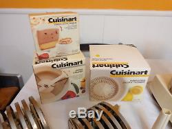 Cuisinart DLC-7P Pro Food Processor Juicer/Whisk/Strainer Attachments 12 Blades