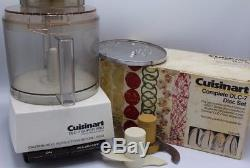Cuisinart DLC-7 14 Cup Super Pro Food Processor with Complete Disc Set WORKS