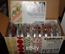 Cuisinart DLC-7 Pro Food Processor and 9 Disc Set UNOPENED NEW OLD STOCK