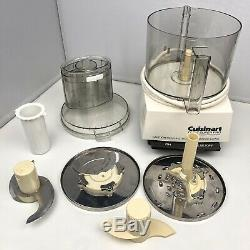 Cuisinart DLC-7 Super Pro Food Processor WORKING Base with Bowl Lid Blades Kitchen