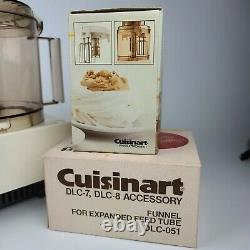 Cuisinart DLC-7 Super pro 14 Cup Food Processor Japan With Some new Attachments