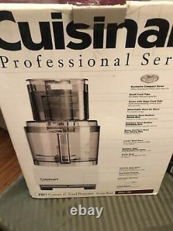 Cuisinart DLC-8S Food Processor, 11 Cup Professional Series White Brand New