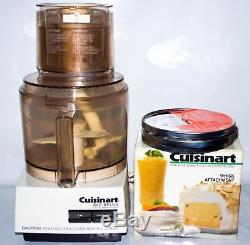 Cuisinart DLC-8 Plus Food Processor With DLC-855 Whisk Attachment. Made in Japan