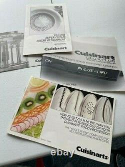 Cuisinart DLC-X-Plus Food Processor (20 Cup) with many accessories