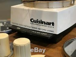 Cuisinart DLC-X Vintage 20 Cup Food Processor Discs Blades Tested Made in Japan