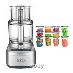 Cuisinart Elemental 11 Cup Food Processor Silver with Storage Containers