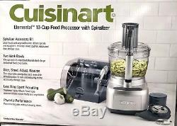 Cuisinart Elemental 13 Cup Food Processor with Spiralizer Accessory Case