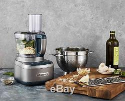 Cuisinart Elemental 8-Cup Food Processor with 3-Cup Bowl in Gunmetal