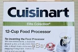 Cuisinart Elite Collection 12 cup Food Processor FP-12DC Metallic Silver New