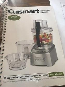 Cuisinart Elite Collection 16 Cup Food Processor FP-16DC No Motor Many Parts