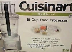 Cuisinart Elite Food Processor 16 Cup Model Fp 16dcws Brand New In Box