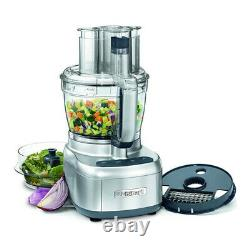 Cuisinart FP-13DSV Elemental 13 Cup Food Processor Silver with Containers Bundle