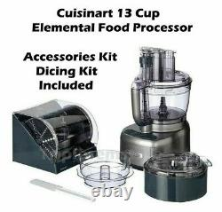 Cuisinart FP-13DSV Elemental 13-Cup Food Processor with Accessories and Dicing Kit