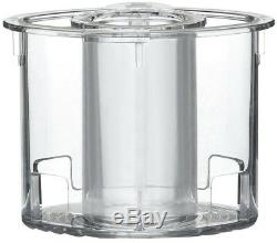 Cuisinart Food Processor 14-Cup Work Bowl XL Feed Tube Brushed Stainless White