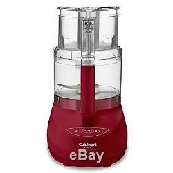Cuisinart Food Processor 600 Watt ABS Red Plastic with 9 Cup Work Bowl DLC-2009MRY