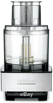 Cuisinart Food Processor Brushed Stainless Black Series Custom 14 Cup Powerful