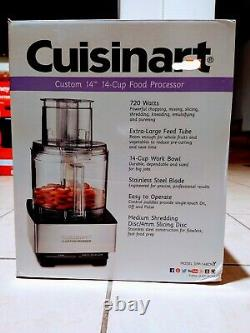 Cuisinart Food Processor DFP-14BCNY 14 Cups Full Size Stainless Steel White