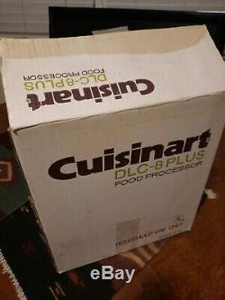 Cuisinart Food Processor DLC-8 Plus with instruction manual & attachments in Box
