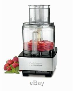 Cuisinart Food Processor Electric Kitchen 14 Cup Brushed Stainless Steel Black