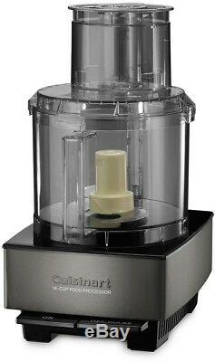 Cuisinart Kitchen Food Processor Brushed Stainless Steel Sleek 14 Cup Black New
