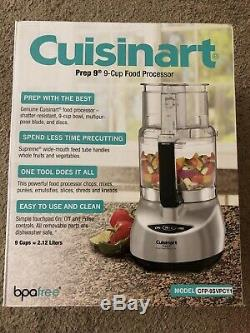Cuisinart Prep 9 Food Processor 9-Cup Brushed Aluminum CFP-9SVPCY1 NEW IN BOX