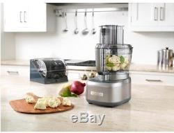 Cuisinart Silver Elemental 13 Cup Food Processor Dicing Kit Kitchen Appliance