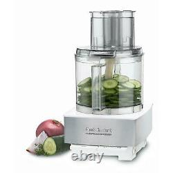 Custom 14-Cup 2-Speed White Stainless Steel Food Processor with Pulse Control