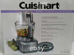 Elemental 13-Cup 3-Speed Gray Food Processor and Dicing Kit by Cuisinart