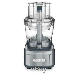 Elemental 13-Cup 3-Speed Gunmetal Gray Food Processor and Dicing Kit