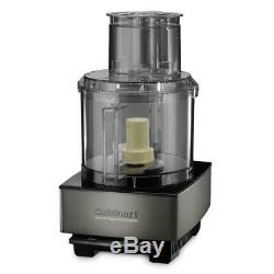 Food Processor 720 Watts 14-Cup Black Stainless Steel with Plastic Work Bowl